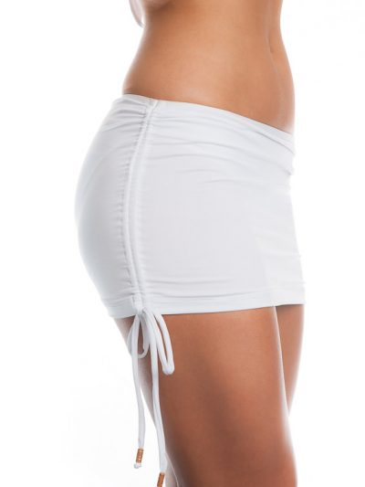 Skirted ruched bikini pants