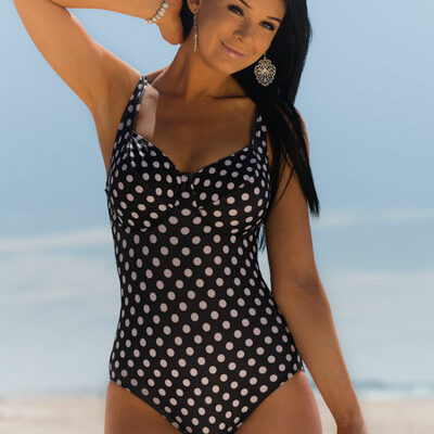 E-F Cup underwire one piece swimsuit