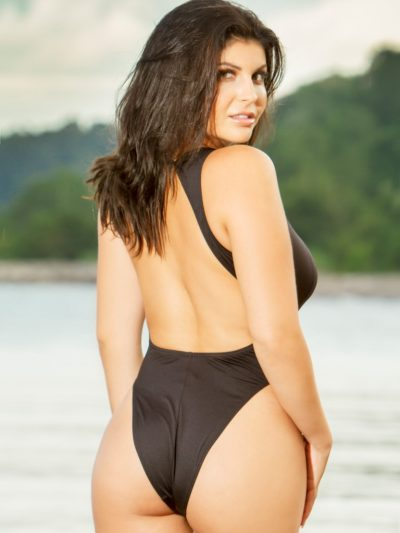 Elegant high neck Brazilian Bum one piece