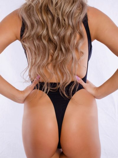 Elegant high neck Thong one piece